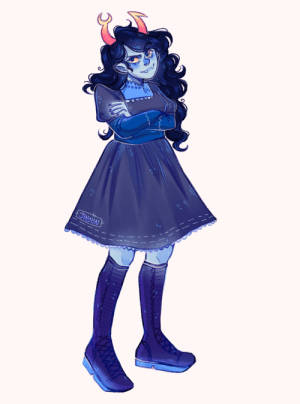 erubescelin:fancystuck vriska i edited from >this attack< with an oc >angela< by >sofialily440< : JAYLN erubescelin:fancystuck vriska i edited from >this attack< with an oc >angela< by >sofialily440<