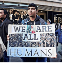 "NO HUMAN BEING IS ILLEGAL 💯💯💯 HERETOSTAY ""I have ran into this guy at almost every protest I've attended so far. He always has a new sign, and a new sign of life to keep going. It's people like him who keep me inspired to share the movement, with you."" Source: IG @tko.creative I Am a Muslim Too. February 19th, 2017. Times Square, New York City: JCDecaux  THE  WE ARE  HUMANS NO HUMAN BEING IS ILLEGAL 💯💯💯 HERETOSTAY ""I have ran into this guy at almost every protest I've attended so far. He always has a new sign, and a new sign of life to keep going. It's people like him who keep me inspired to share the movement, with you."" Source: IG @tko.creative I Am a Muslim Too. February 19th, 2017. Times Square, New York City"