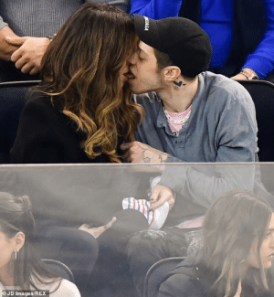 Hockey, Game, and Images: JD Images/REX Pete Davidson and Kate Beckinsale kissing at a hockey game