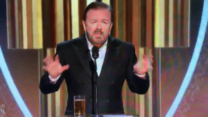 "Ricky Gervais to celebrities at the Golden Globes: ""You're in no position to lecture the public about anything. You know nothing about the real world."": JE Ricky Gervais to celebrities at the Golden Globes: ""You're in no position to lecture the public about anything. You know nothing about the real world."""