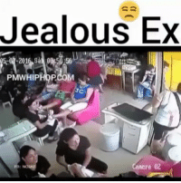 Ass, Dude, and Jealous: Jealous Ex  PMWHIPHOP.COM  amera 02 Dude attacks ex girl for not getting back with his lame ass 😒😒