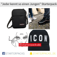 "Memes, 🤖, and Icon: ""Jeder kennt so einen Jungen"" Starterpack  EASTPAK  ICON  () starte rpacksde  STARTERPACKS  」STA RT ER PACKS  DE"