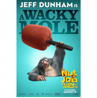 There's a mole on the interwebs! Oh wait - it's me! #TheNutJob2: JEFF DUNHAM is  by  nature  IN THEATERS  AUGUST 11  REAL, o 30 There's a mole on the interwebs! Oh wait - it's me! #TheNutJob2