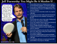Image result for Jeff Foxworthy, You may be a muslim