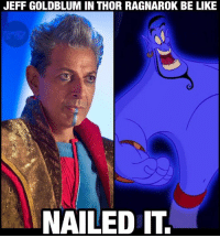 So Disney is finally crossing its characters into the MCU... 🤔 Interesting. ThorRagnarok: JEFF GOLDBLUM IN THOR RAGNAROK BE LIKE  NAILED IT. So Disney is finally crossing its characters into the MCU... 🤔 Interesting. ThorRagnarok