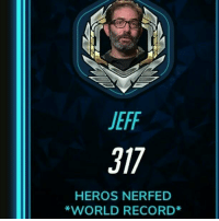 The truth behind the cards at the end 👌 And yes there is a mistake in heroes 😡 Overwatch Overwatchmeme Jeffkaplan viktorycards meme: JEFF  T17  HEROS NERFED  *WORLD RECORD The truth behind the cards at the end 👌 And yes there is a mistake in heroes 😡 Overwatch Overwatchmeme Jeffkaplan viktorycards meme