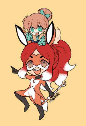 Target, Tumblr, and Blog: JENNESHI jenneshi:  Rena Rouge with Shippo (from Inuyasha) because I just wanted to. 😂👍
