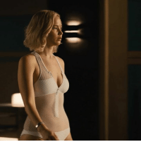 Dank, Jennifer Lawrence, and Gravity: Jennifer Lawrence gets trapped in a swimming pool after the gravity shuts off on a spaceship...👀