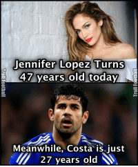 Jennifer Lopez Turns  47 years old today  Meanwhile, Costa is just  27 years old  M Jennifer Lopez and Diego Costa