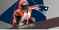 Memes, Patriotic, and 🤖: JEREMY HILL .@JeremyHill33 is the newest member of the @Patriots backfield: https://t.co/JqdOdvzcAs https://t.co/LWq3SMVcNP
