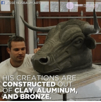 HE LEFT LAW SCHOOL TO BECOME AN ARTIST 😱😱😱: JESSE NUSBAUM ART  HIGHER PE  HIS CREATIONS ARE  CONSTRUCTED OUT  OF CLAY ALUMINUM,  AND BRONZE. HE LEFT LAW SCHOOL TO BECOME AN ARTIST 😱😱😱