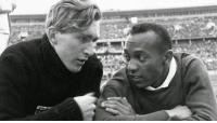 Jesse Owens & Luz Long were American and German athletes at the 1936 Summer Olympics in Berlin. These men shared a love for sport so strong that even surrounded by hate in the heart of Nazi Germany with Hitler and the third Reich watching they embraced each other as brothers. Understanding takes courage but at the end of the day love will always intrinsically be bigger than fear.: Jesse Owens & Luz Long were American and German athletes at the 1936 Summer Olympics in Berlin. These men shared a love for sport so strong that even surrounded by hate in the heart of Nazi Germany with Hitler and the third Reich watching they embraced each other as brothers. Understanding takes courage but at the end of the day love will always intrinsically be bigger than fear.