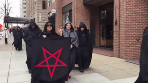"""Bad, Church, and Life: jessipumpkinhead: supaslim:  lexxgotthejuice:  localstarboy:  Trump is so bad that SATANISTS are protesting him. Devil worshipers are trying to protect us from this man lmao this real life  Lmaooo yo this seemed so unreal  okay okay but listen satanists WOULD be anti-Trump satanists are, for the most part, just secular humanists (mostly atheists) with a flair for the dramatic. They are, on average, very left-leaning. The Satanic Temple in particular is a great organization. They don't believe religious organizations should be tax exempt, so they voluntarily pay taxes. They also sell merch and give a good chunk of the proceeds to things like Planned Parenthood and legal funds that fight for division of church and state. Fuck, this is straight from their website: """"The mission of The Satanic Temple is to encourage benevolence and empathy among all people. In addition, we embrace practical common sense and justice.""""   satanism is not bad or evil   I feel like more people should know this"""