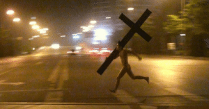 Jesus carrying the cross to his crucifixion (33 ad): Jesus carrying the cross to his crucifixion (33 ad)