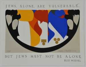 jews: JEWS, ALONE, ARE  VULNERABLE..  Ounbubai &. fometinenz  ST  NOT BE  ALONE  BUT  JEWS  ELIE WIESEL