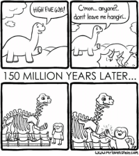 "Http, Five Guys, and Com: JHIGH FIVE GUys!C  .  mon.. anyone  dont leave me hangin.  150 MILLION YEARS LATER  ωωω.mr loven stein.com <p>High Five via /r/wholesomememes <a href=""http://ift.tt/2A3Le2p"">http://ift.tt/2A3Le2p</a></p>"
