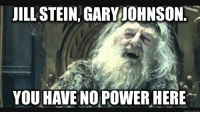 JILL STEIN GARY JOHNSON  YOU HAVE NO POWER HERE What the RNC and DNC are thinking at this point.