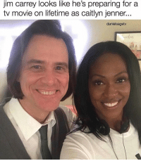jim carrey looks like he's preparing for a  tv movie on lifetime as caitlyn jenner...  danielsagetv 😂😂😂😂 Credit @danielsagetv 🔥 loveyoubrother