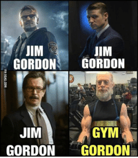 Dank, 🤖, and Safe: JIM  JIM  GORDON  GORDON  JIM  GYM  GORDON GORDON Gotham is finally safe! http://9gag.com/gag/aGDKNN5?ref=fbp