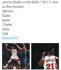 🏀A lot of great performances this season, seems like every night. Jimmy Butler is the 8th player this to score at least 50 points on the season!🔥 DOUBLE TAP & TAG a friend.🏀 nba nba2k17 nbaplayoffs nbamemes ➡Everyone ADD us on Snapchat 👻 - ballershype ➡TURN ON POST NOTIFICATIONS ➡Follow my other account @ballershype for NBA news, rumours, videos! ➡LIKE us on Facebook (Link in bio!): Jimmy Butler in the Bulls 118-111 win  vs the Hornets  38mins  52pts  basts  12rebs  3stls  1 blk  #NBAVOTE  HOR 🏀A lot of great performances this season, seems like every night. Jimmy Butler is the 8th player this to score at least 50 points on the season!🔥 DOUBLE TAP & TAG a friend.🏀 nba nba2k17 nbaplayoffs nbamemes ➡Everyone ADD us on Snapchat 👻 - ballershype ➡TURN ON POST NOTIFICATIONS ➡Follow my other account @ballershype for NBA news, rumours, videos! ➡LIKE us on Facebook (Link in bio!)
