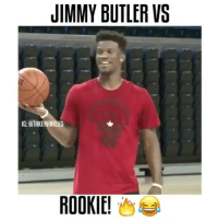 Jimmy Butler vs A Rookie 😳🏀 Follow @crazyfilm for more 😨 ( via @takenankles ): JIMMY BUTLER VS  NG: BTAKENANKLES  ROOKIE! Jimmy Butler vs A Rookie 😳🏀 Follow @crazyfilm for more 😨 ( via @takenankles )