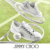 Jimmy Choo, Memes, and Sneakers: JIMMY CHOO Get your tennis whites in line for courtside action. Whether you're heading to #Wimbledon or working summer event elegance elsewhere, the Men's white sneakers always makes a sophisticated statement.