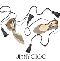Jimmy Choo, Memes, and Black: JIMMY CHOO In light mocha suede with feminine black tassel ties, the DUCHESS is a perfect mid-season option. Ideal whether you're running around town or hoping to complete that wedding look, this style combines spring time lightness with practicality.