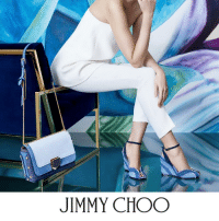 Jimmy Choo, Memes, and 🤖: JIMMY CHOO Trend Alert: Pull off double denim with the DAMON wedge and LOCKETT city bag.    Discover the SS17 Collection at: http://bit.ly/JC-SS17-Denim