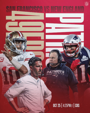 Jimmy Garoppolo returns to New England for the first time. Get your 🍿 for Week 7. #SFvsNE https://t.co/pBXXmMLE3d: Jimmy Garoppolo returns to New England for the first time. Get your 🍿 for Week 7. #SFvsNE https://t.co/pBXXmMLE3d