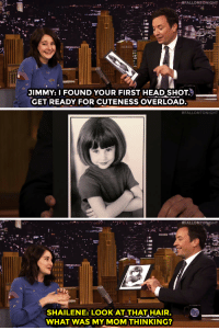 """Head, Target, and youtube.com: JIMMY: I FOUND YOUR FIRST HEAD SHOT.  GET READY FOR CUTENESS OVERLOAD   #FALLONTONIGHT   #FAL LONTONGHT  2.  Ci  SHAILENE: LOOK AT THAT, HAIR.  WHAT WAS MY MOM THINKING? <h2><b><a href=""""https://www.youtube.com/watch?v=XuWzDRbTVw0&amp;index=2&amp;list=UU8-Th83bH_thdKZDJCrn88g"""" target=""""_blank"""">Shailene Woodley&rsquo;s first headshot = &ldquo;Cuteness overload&rdquo;</a></b></h2>"""
