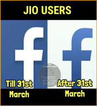 eds: JIO USERS  Via  ed Aatma  Conf  Funnies Fb page in  Till 31st  UNESCO and voted  After 31st  other fake profiles.  March  March