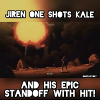 "Anime, Bulma, and Dragonball: JIREN ONE SHOTS KALE  Irs aver  QDBZ.HISTORY  AND HIS EPIC  STANDOFF WITH HIT! This was AMAZING!! I'm so hyped they teased us 😭😭 Hit vs Jiren is gonna be one to remember then Goku was like ""yo"" 😂😂 Goku Vegeta Beerus Whis Xenoverse2 goten trunks bulma chichi Gohan otaku ssj ssj2 ssj3 ssj4 anime Zwarriors SuperSaiyanBlue Dragonball DragonballZ DragonballGT DragonballSuper Db Dbz Dbgt Dbs anime NamcoBandai over9000"