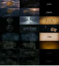 The start and finish of all the Harry Potter movies https://t.co/fZWcWPFtyA: JK ROWLING  Hary Potter  K ROWLING  Hally Polit  HEIR-OF-HOSWART The start and finish of all the Harry Potter movies https://t.co/fZWcWPFtyA