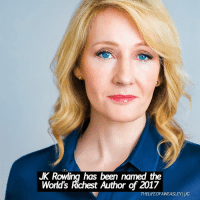 - Date: 05-08-17 --- If I could write like Rowling I'd be set for life --- Q- comment your most recent emojis 😂😍😘😏😉 --- HarryPotter JKRowling: JK Rowling has been named the  World's Richest Author of 2017  THELIFEOFAWEASLEYIIG - Date: 05-08-17 --- If I could write like Rowling I'd be set for life --- Q- comment your most recent emojis 😂😍😘😏😉 --- HarryPotter JKRowling
