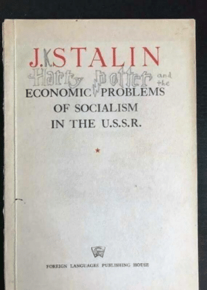Um (i.redd.it): JKSTALIN  and  the  ECONOMIC PROBLEMS  OF SOCIALISM  IN THE U.S.S.R.  竇  FOREIGN LANGUAGES PUBLISHING HOUSE Um (i.redd.it)