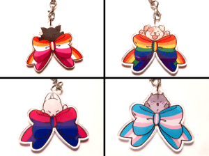 jlscharms:  🏳️‍🌈  LGBT pride bow charms  🏳️‍🌈  1.5″, double-sided clear acryllic, $9 each >> https(:)//jlscharms(.)storenvy.com << : jlscharms:  🏳️‍🌈  LGBT pride bow charms  🏳️‍🌈  1.5″, double-sided clear acryllic, $9 each >> https(:)//jlscharms(.)storenvy.com <<