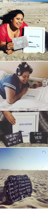 """This woman made a job offer announcement.. I'm crying 😂: JOB OFFER   JOB OFFER  THE  JOB   JOB OFFER  Auprst 01.2016  said  Will you  confirm our offer of employment with  ience and the qualificatiiln  YESI  WORK  me   OUR dout, STORY  Une  llth. Istprore inevial  July 22""""Sosad YES.  St  p( 2 n  9994 This woman made a job offer announcement.. I'm crying 😂"""