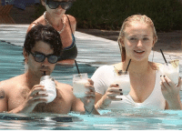 Birthday, Memes, and White: Joe Jonas is celebrating his birthday a little early and Sophie Turner's white and wet crop top is certainly making it a much happier occasion. tmz birthday joejonas sophieturner 📷Backgrid
