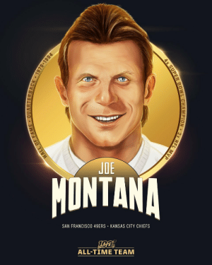 .@JoeMontana is one of 10 QBs selected to the #NFL100 All-Time Team!  🔥 4x Super Bowl Champion (3x SB MVP) 🔥 2x NFL MVP (1989, 1990) 🔥 3x First-Team All-Pro 🔥 8x Pro Bowler 🔥 NFL 1980s All-Decade Team https://t.co/oSxzUacH0k: JOE  MONTANA  SAN FRANCISCO 49ERS • KANSAS CITY CHIEFS  ALL-TIME TEAM  ARTERBACK 1979-1994  HALL OF FAM  4x SUPER BOWL CHAMPION 2x NFL MVP .@JoeMontana is one of 10 QBs selected to the #NFL100 All-Time Team!  🔥 4x Super Bowl Champion (3x SB MVP) 🔥 2x NFL MVP (1989, 1990) 🔥 3x First-Team All-Pro 🔥 8x Pro Bowler 🔥 NFL 1980s All-Decade Team https://t.co/oSxzUacH0k