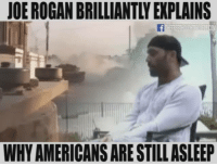 Joe Rogan: JOE ROGAN BRILLIANTLY EXPLAINS  WHYAMERICANSARE STILLASLEEP