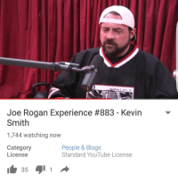 Another early Xmas Gift. @joerogan thank you.. 🙌🙌🙌: Joe Rogan Experience #883 Kevin  Smith  1,744 watching now  Category  People & Blogs  Standard YouTube License  License  35  1 Another early Xmas Gift. @joerogan thank you.. 🙌🙌🙌
