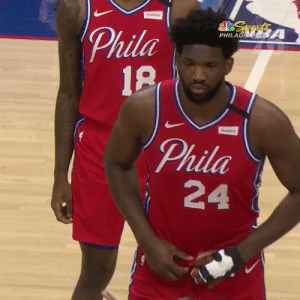 Joel Embiid rocking a No. 24 Jersey to honor Kobe🙏  Sixers also take an 8-second violation https://t.co/fWMCD1UZht: Joel Embiid rocking a No. 24 Jersey to honor Kobe🙏  Sixers also take an 8-second violation https://t.co/fWMCD1UZht