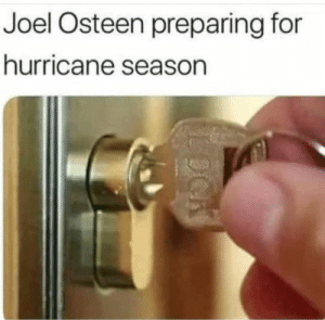 He refued to let people stay in his megachurch after Hurrican Harvey: Joel Osteen preparing for  hurricane season He refued to let people stay in his megachurch after Hurrican Harvey