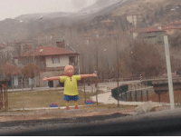Caillou, Saw, and Tumblr: joeshmo: 000jennyhoelzer000:  they tore down my childhood home in istanbul. i visited last winter break and saw this nine foot statue in its place  Caillou, stealer of souls, destroyer of homes