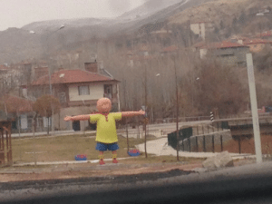 joeshmo: 000jennyhoelzer000:  they tore down my childhood home in istanbul. i visited last winter break and saw this nine foot statue in its place  Caillou, stealer of souls, destroyer of homes : joeshmo: 000jennyhoelzer000:  they tore down my childhood home in istanbul. i visited last winter break and saw this nine foot statue in its place  Caillou, stealer of souls, destroyer of homes