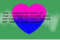 """Girls, Target, and Tumblr: Joey' s Babysitter knows of  Joey's attraction to both girls  and boys, and is slowly helping  her come to accept herself homestuckfluffcanons:  """"Joey's Babysitter knows of Joey's attraction to both girls and boys, and is slowly helping her come to accept herself.""""Suggested anonymously"""