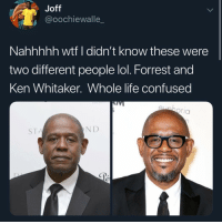 Confused, Ken, and Life: Joff  @oochiewalle  Nahhhhh wtf I didn't know these were  two different people lol. Forrest and  Ken Whitaker. Whole life confused  oria  STA  N D I'm confused 🤔🤔🤔 @ratchethoodvideos