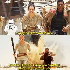 stripperdameron:  my haND SLIPPED: Jogging is the worst, Rey.   LAmean, I know it keeps you healthy  A But God, àt what cost? stripperdameron:  my haND SLIPPED
