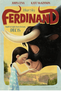 Built to fight. Born to love. The new #Ferdinand trailer arrives TOMORROW!: JOHN CENA  KATE McKINNON  Bluesky  Built Too Fight Born Tolove.  DEC15 Built to fight. Born to love. The new #Ferdinand trailer arrives TOMORROW!