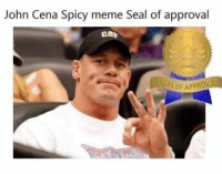 You know you've made it when you earn one of these: John Cena Spicy meme Seal of approval  CAA You know you've made it when you earn one of these